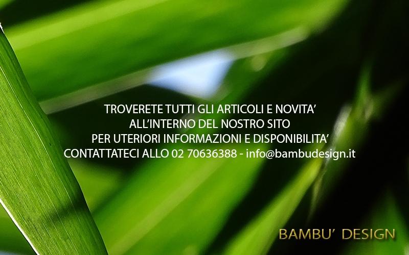 Vendita Bambu Milano.Catalogo Bambu Design Milano