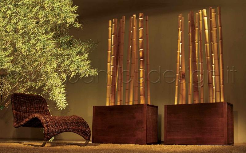Illuminazione d atmosfera bambù design milano